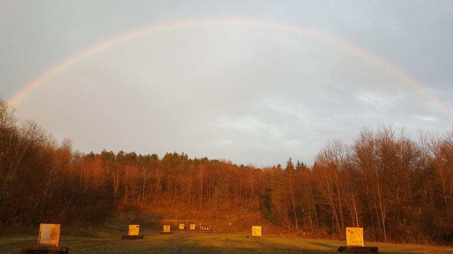 rainbow over range